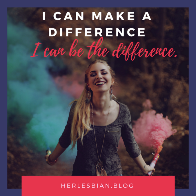 I can be the difference.